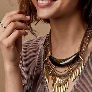 Kendra Scott Kaia vintage golden obsidian collar